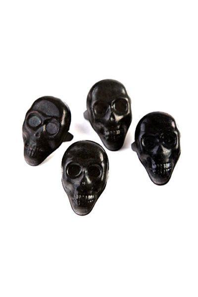 Black Cranium Stud Medium