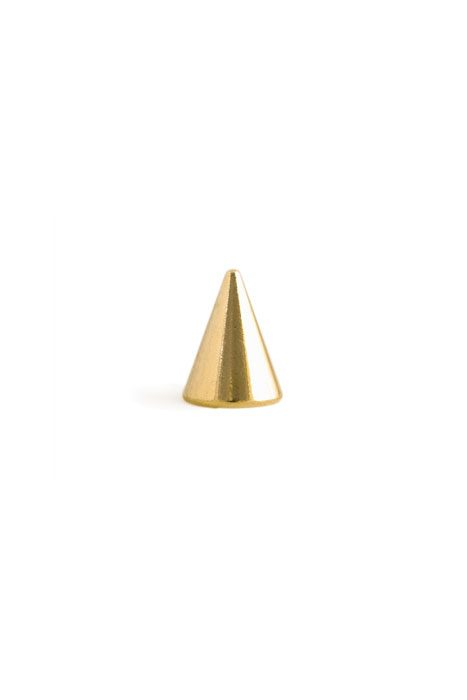 Gold Conescrew Stud Small