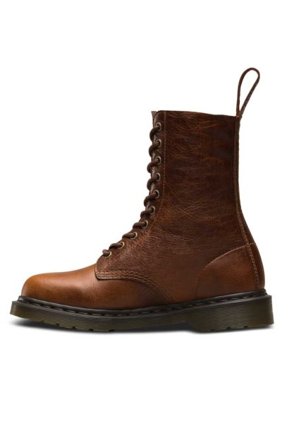1490 10-Eye Boot Tan Brown Side - Dr Martens