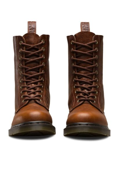 1490 10-Eye Boot Tan Brown Front - Dr Martens