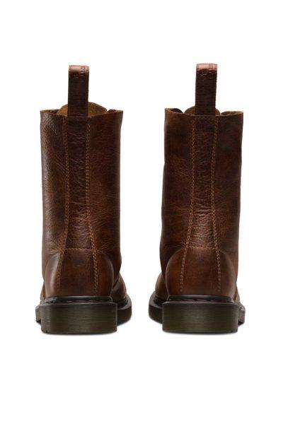 1490 10-Eye Boot Tan Brown Back - Dr Martens