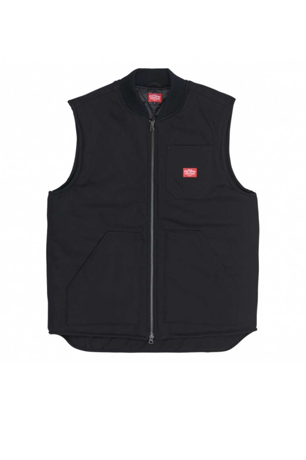 Factory Padded Vest Black Front