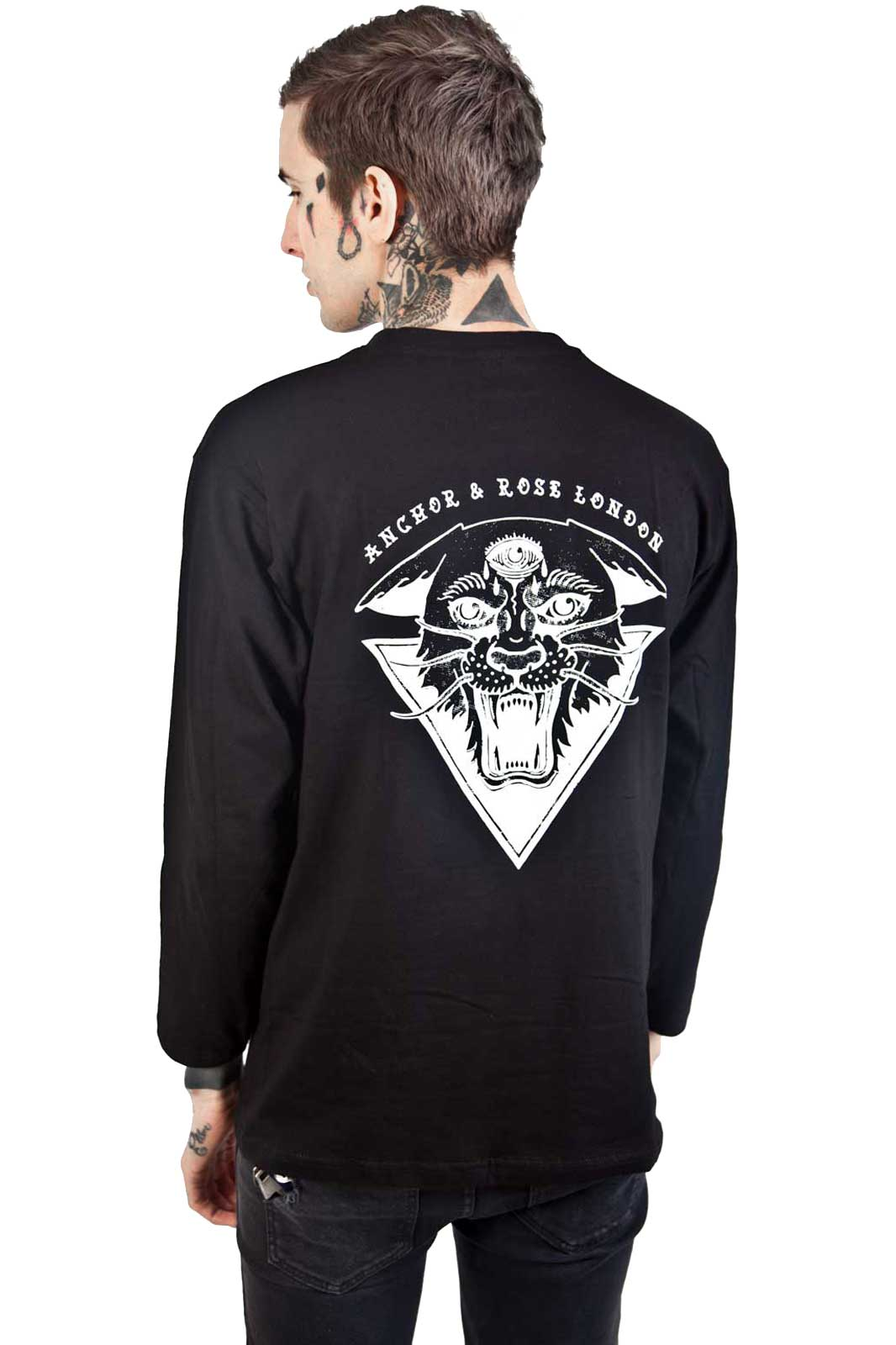 Rear Jaguar Long Sleeve Black