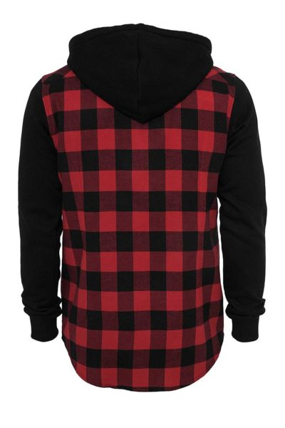 Hooded Checkered Flannel Sweat Back - Urban Classics