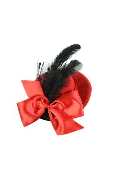 Bella Mini Hat Red