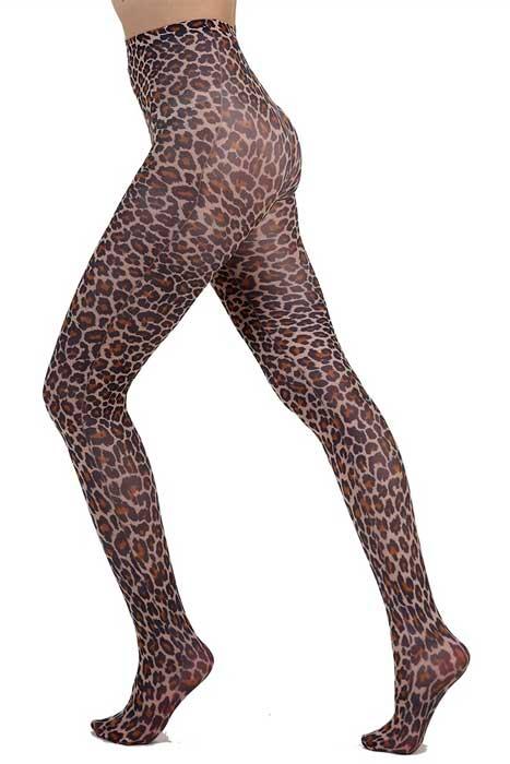 Natural Leopard Printed Tights