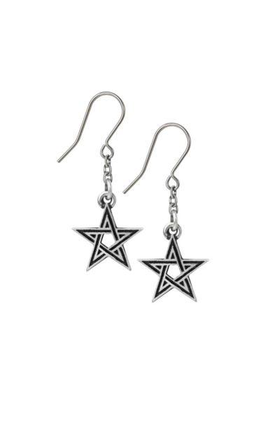 Black Star Earrings