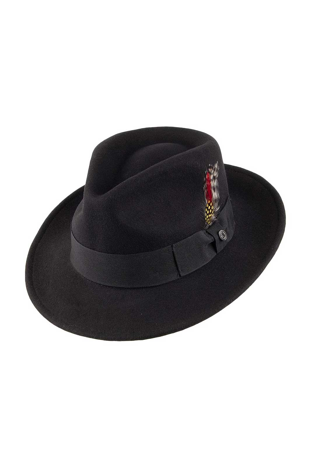 Cruschable C-Crown Fedora Wool Black