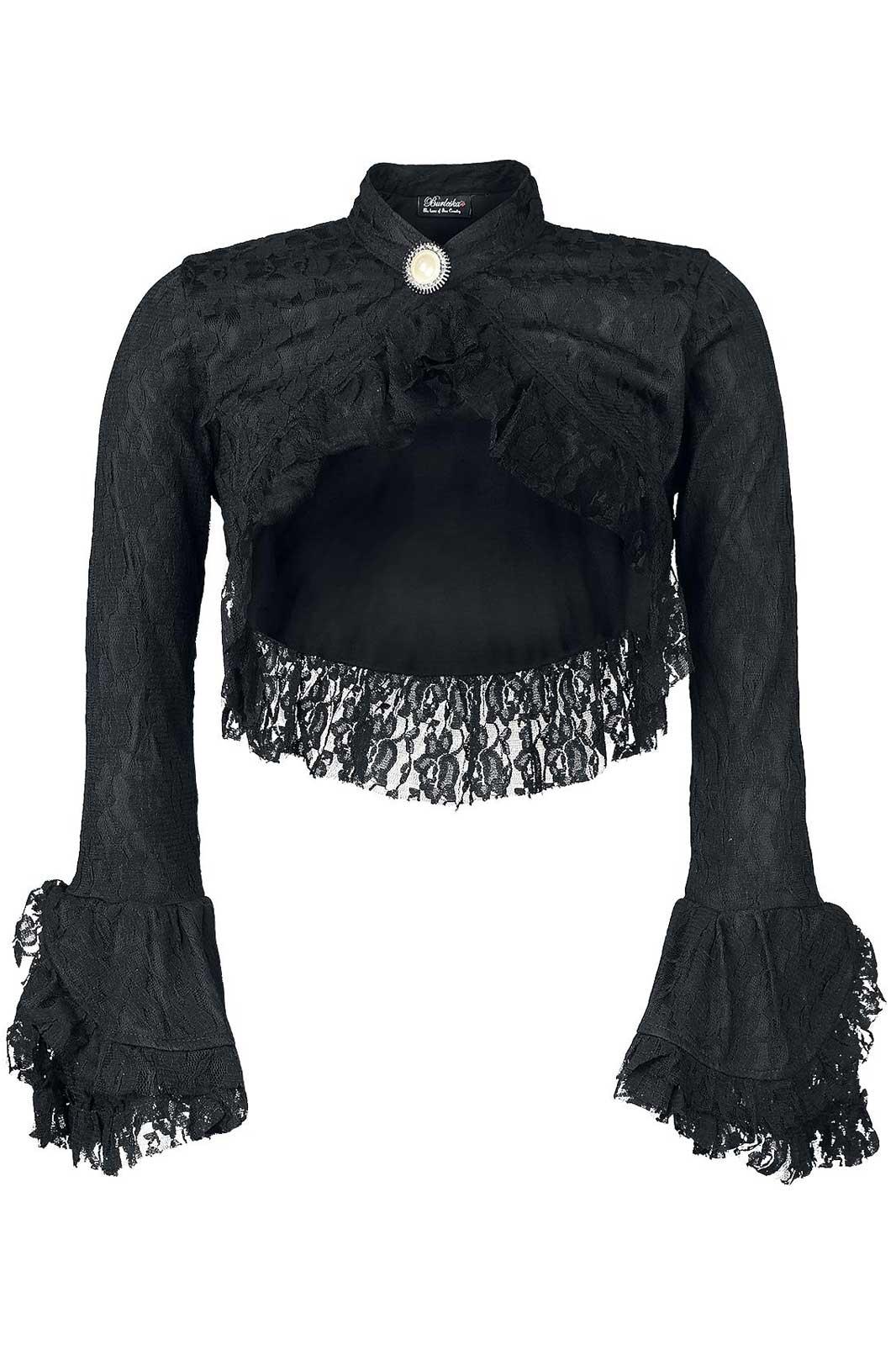 Dita Lace Bolero Black Front