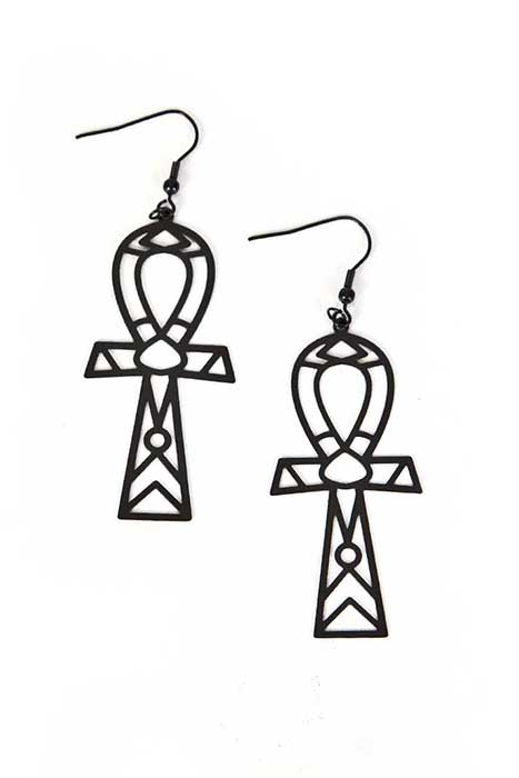 Earrings Ankh Stainless Steel