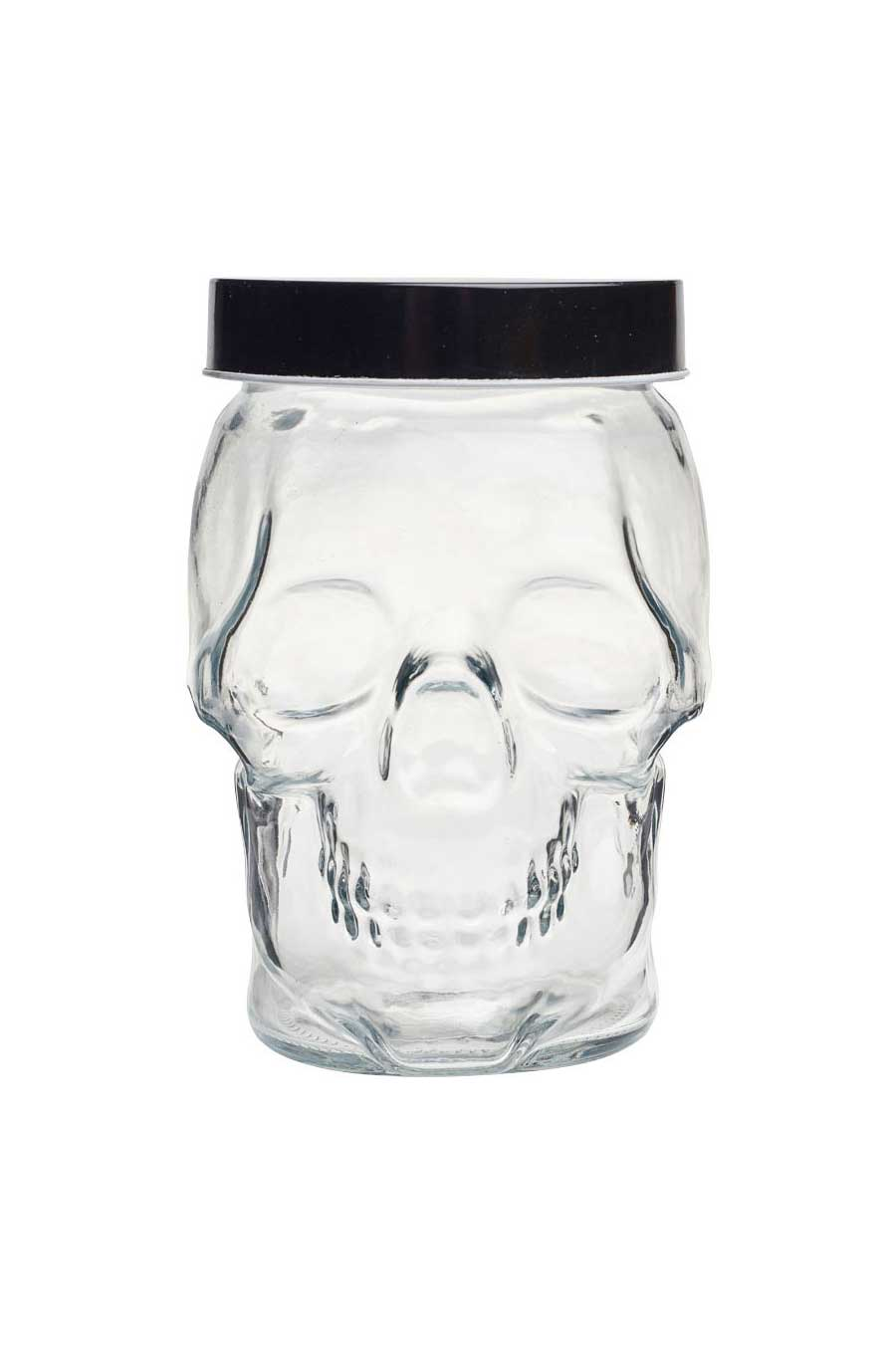 Glass Skull Storage Jar