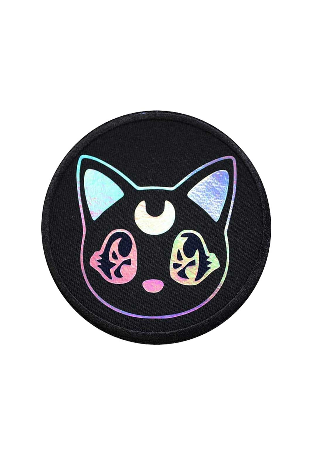 extreme largeness holographic kawaii kitten patch
