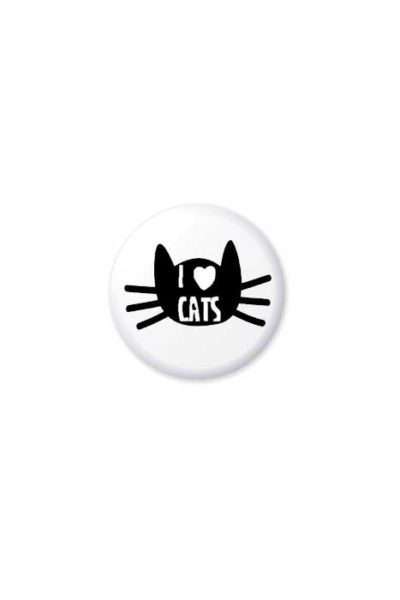 I Love Cats Badge