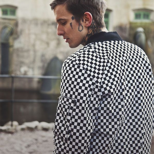 Checkered Bomber Jacket