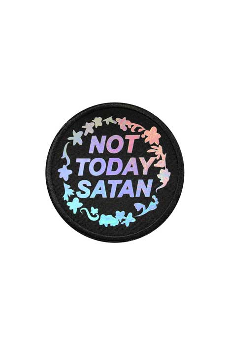 Holographic Not Today Satan Patch