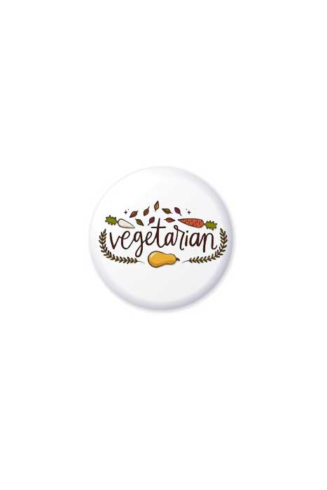 Vegetarian Vegetable Badge