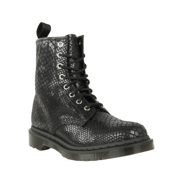 8 eye boot Snake off White/ Black
