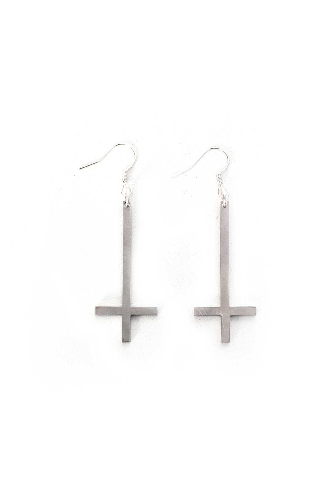 Inverted Cross Earrings