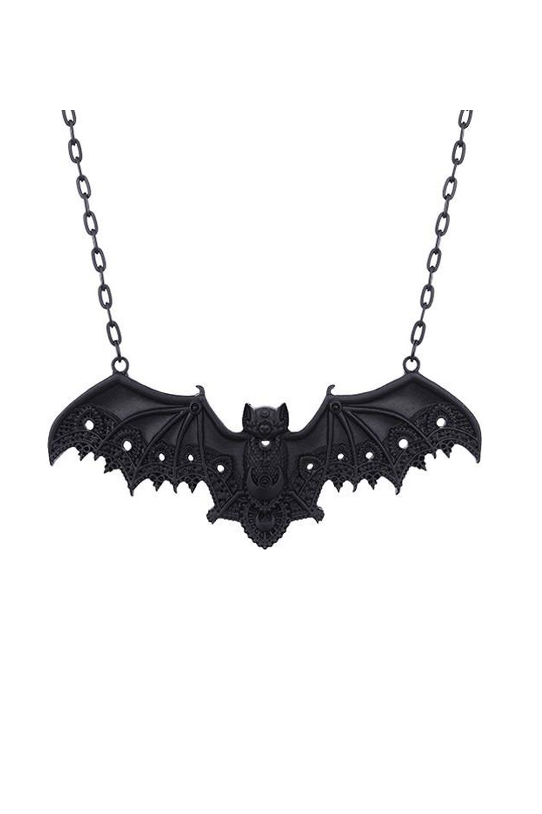 restyle lace bat pendant black
