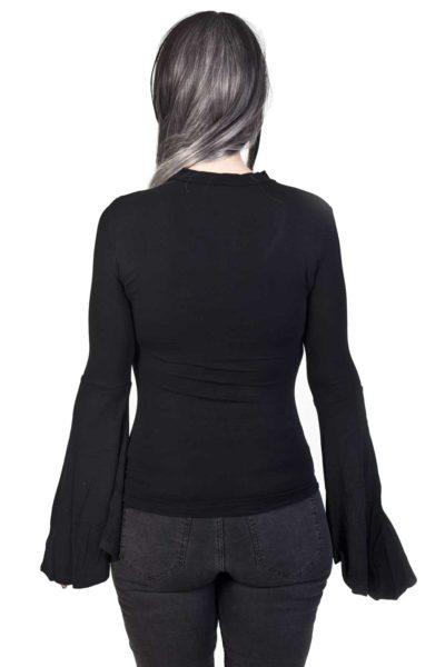 Mystic Bell Sleeve Top Black