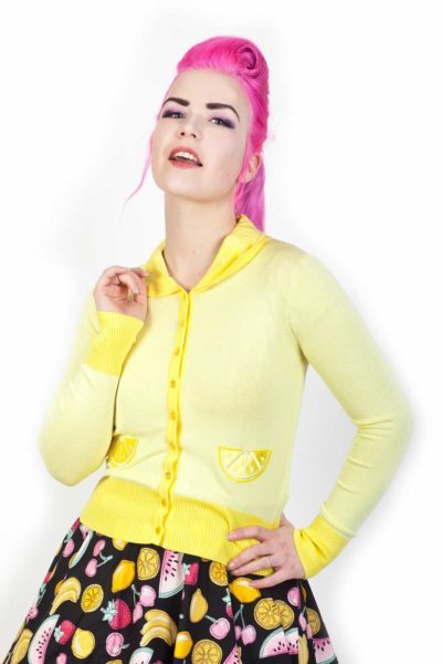 Sasha Lemon Cardigan Yellow