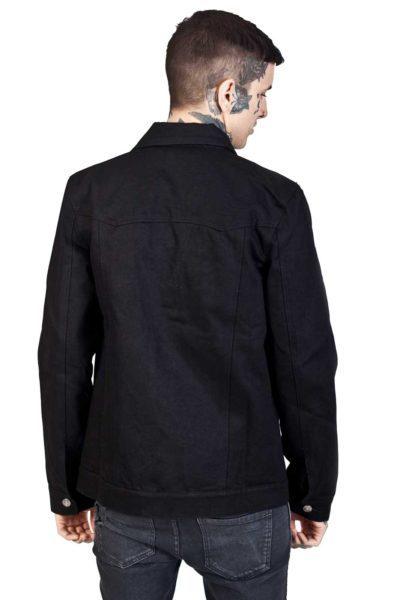 Kustom Creeps Denim Jacket Black Back
