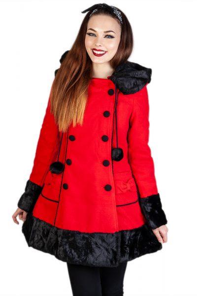 Sarah Jane Coat Red