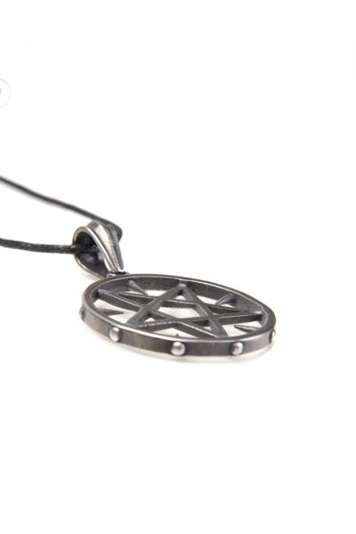 Pendant Spiky Pentacle Stainless Steel Iron Chain