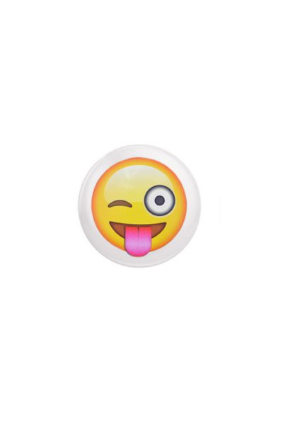 Emoji Wink Tongue Badge