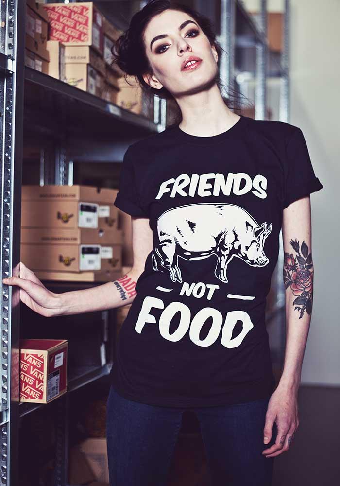 Friends Not Food Vegan Tee