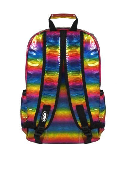 Holographic Rainbow Backpack Back