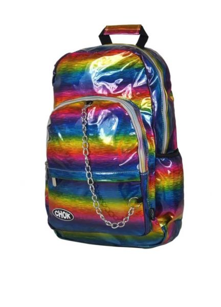 Holographic Rainbow Backpack Side