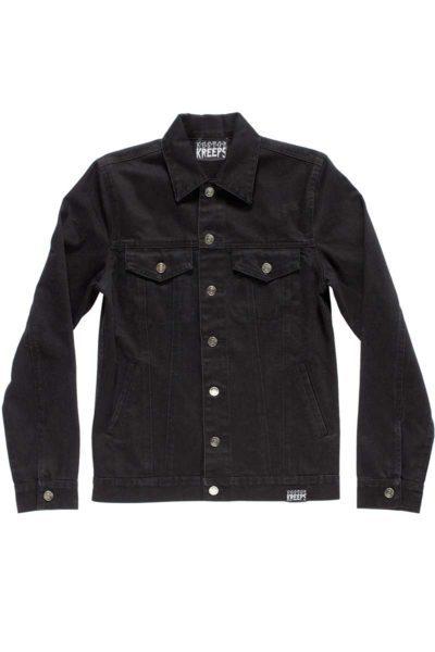 Kustom Creeps Denim Jacket Black