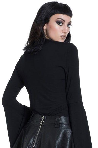 Mystic Bell Sleeve Top Black baksida