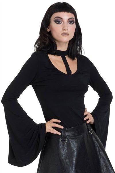 Mystic Bell Sleeve Top Black framsida