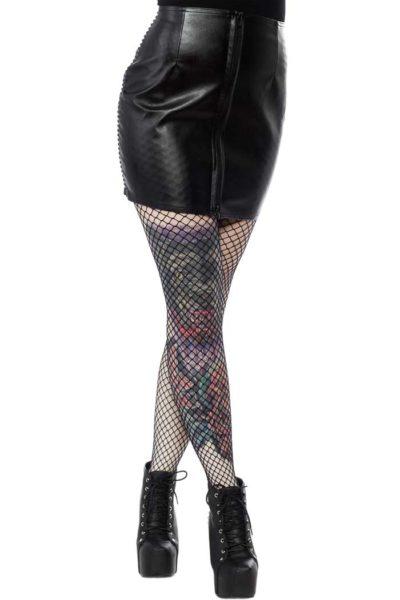 Black Fatale Mini Gloss Skirt Black Framsida