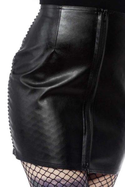 Black Fatale Mini Gloss Skirt Black PVC skirt