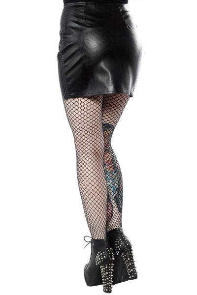 Black Fatale Mini Gloss Skirt Black Baksida