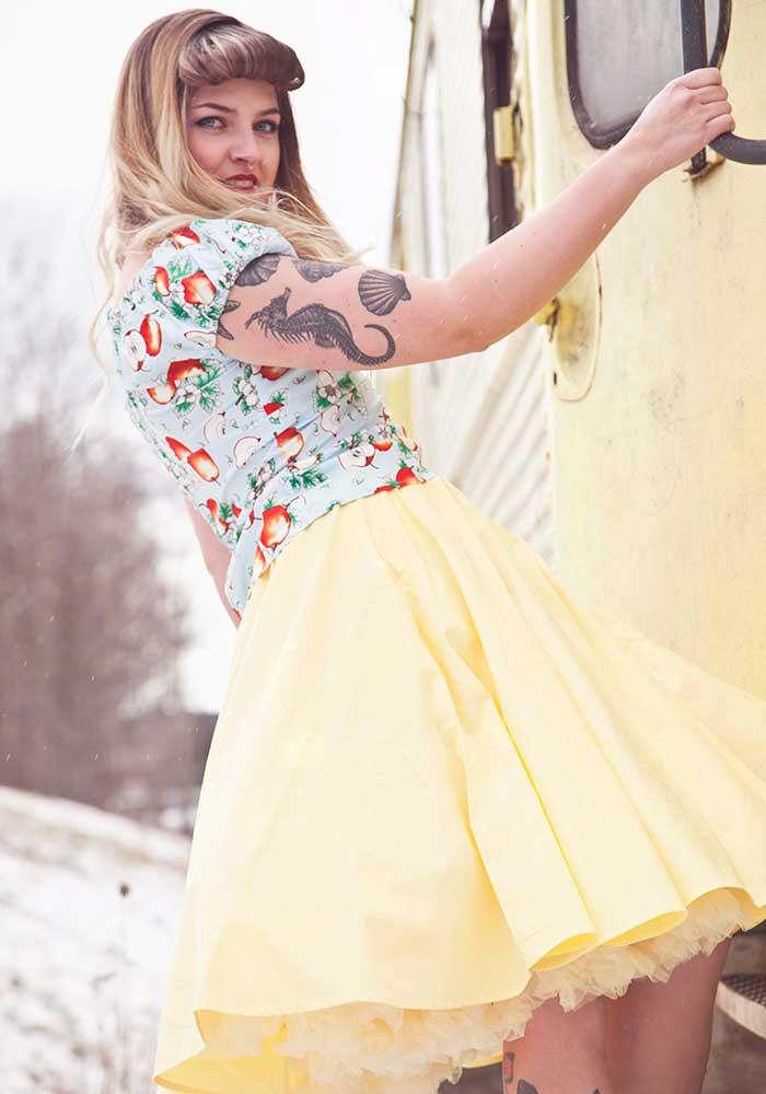 Rockabilly Yellow Skirt