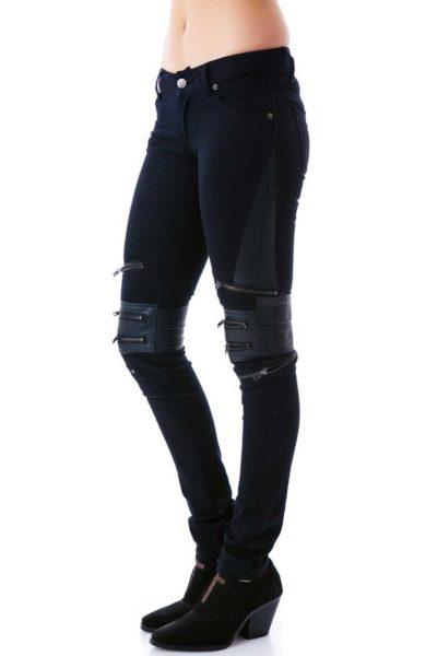 Zip protector jean Black