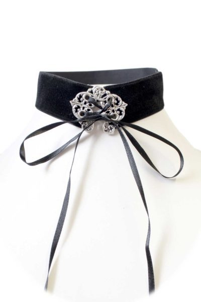 Black Velvet Corset Ribbon Choker