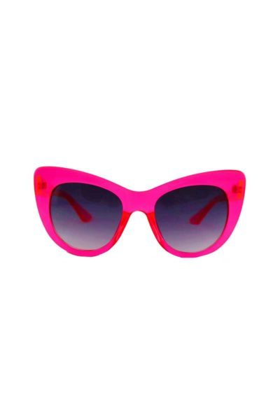 Cat Eye Sunglasses Clear Fuschia framsida