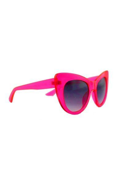 Cat Eye Sunglasses Clear Fuschia baksida