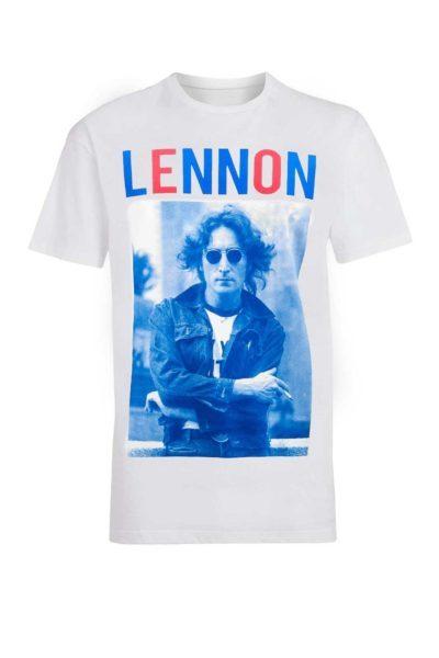 Tee John Lennon Bluered White