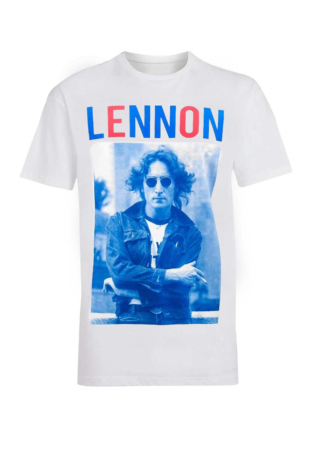 Tee John Lennon Bluered White