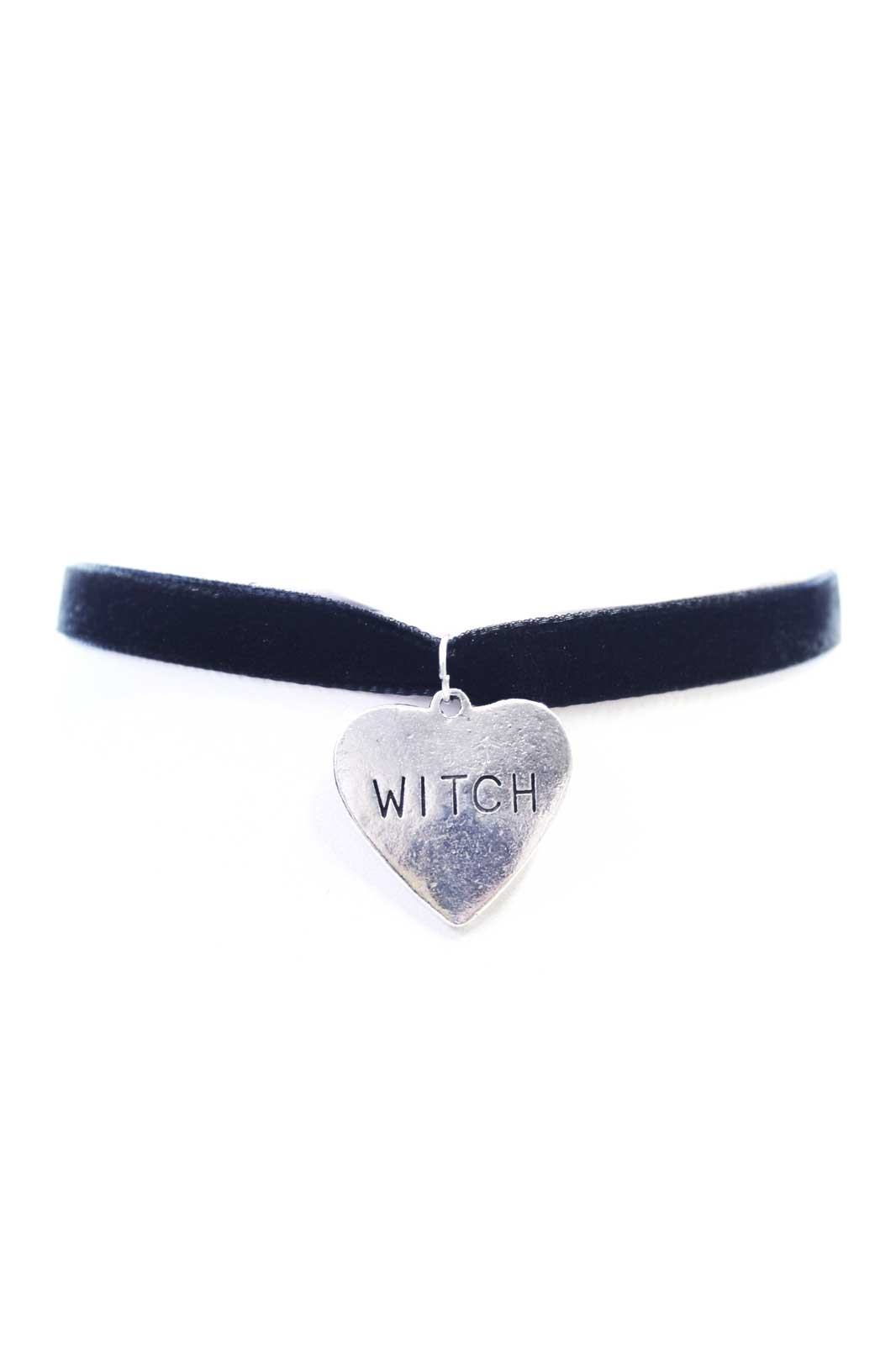 Witch Heart Velvet Choker Black