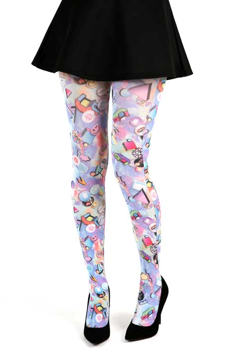 Badges Tights Pastel Pink