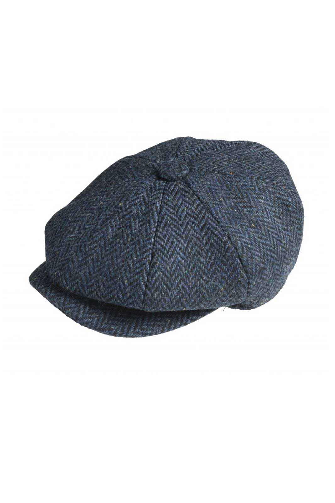 Newsboy Cap Navy Herringbone