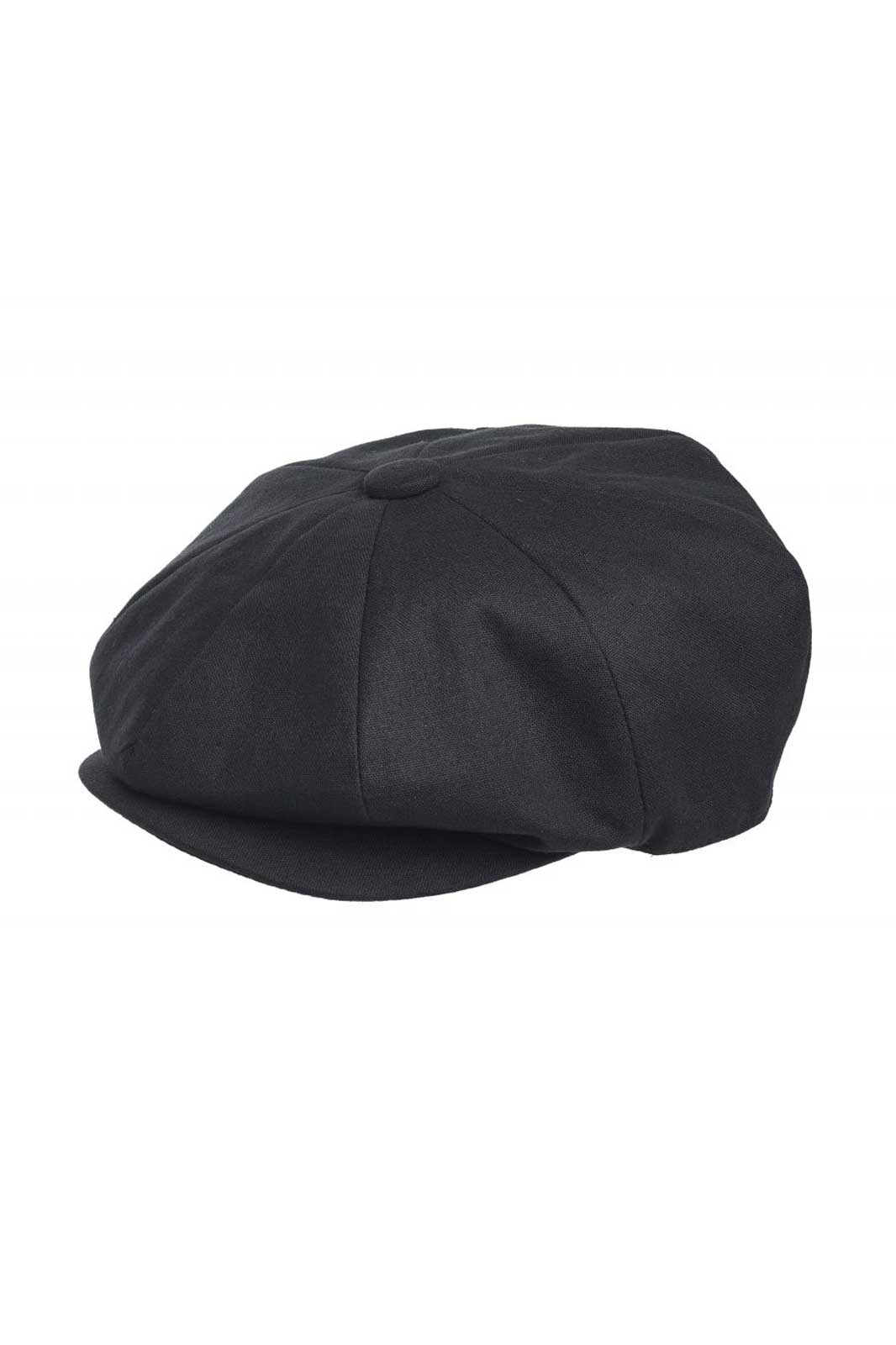 Newsboy Cap Cotton Black