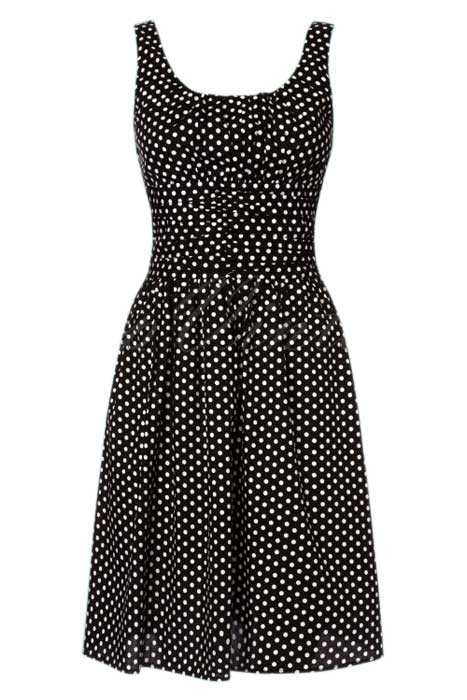 Ethal Polka Dot Dress Black